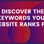 How to identify all keywords your website ranks for