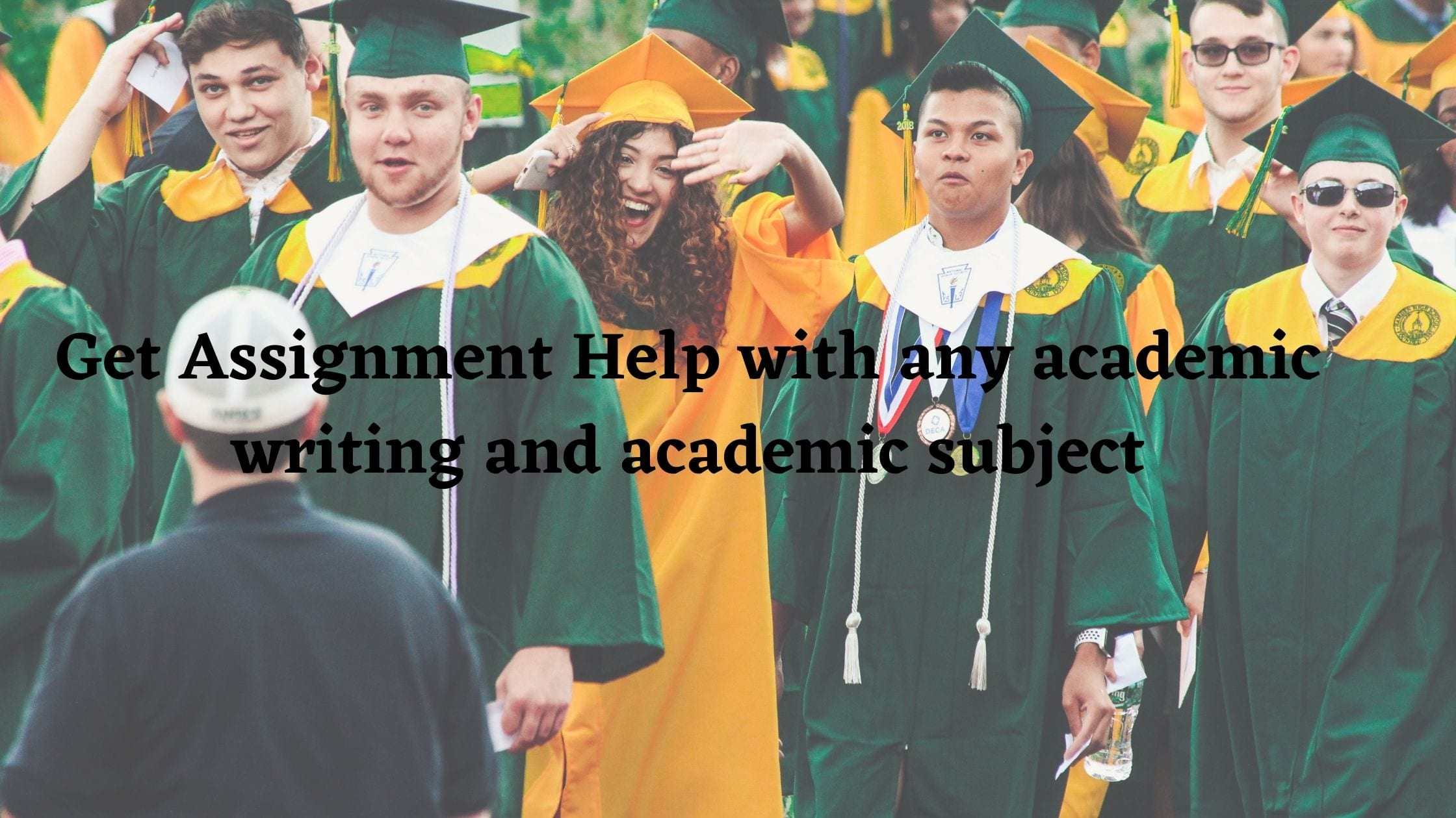 Get Assignment Help with any academic writing and academic subject