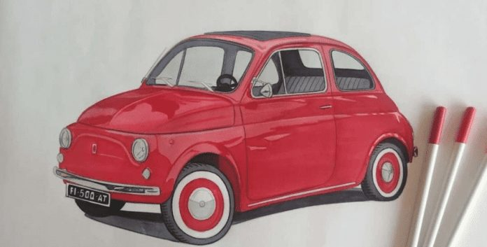 How to draw car drawing