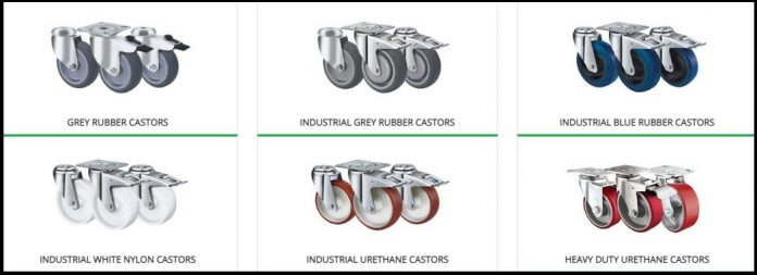 Taking care of different types of castors